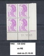 CD4 De 1982  Neuf** Y&T N° CD 2242 Daté 21.10.83 En RE - 1980-1989