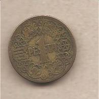 Spagna - Moneta Circolata Da 1 Peseta - 1944 - [ 4] 1939-1947 : Gobierno Nacionalista