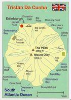 1 Map Of Island Tristan Da Cunha * 1 Landkarte Der Insel Tristan Da Cunha - Britisches Überseegebiet Im Atlantik * - Landkarten