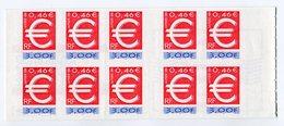 RC 13209 FRANCE BC 3215A LE TIMBRE EURO 1999 NON PLIÉ A LA FACIALE NEUF ** - Carnets