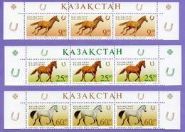 Kazakhstan 2002.  Horses. Fauna. Animals. MNH - Kazajstán