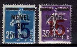 Memel 1920 Mi 47-48  * [260819VII] - Memelgebiet
