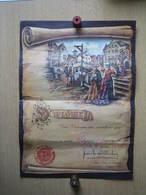 BRUXELLES - EXPOSITION UNIVERSELLE  1958 - DIPLÖME REMIS LORS DE LA VISITE DE LA BELGIQUE JOYEUSE - Exposiciones Universales