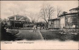 ! Alte Ansichtskarte Aus Magdeburg,  Friedrich Wilhelmsgarten, Verlag Metz & Lautz, Darmstadt - Magdeburg