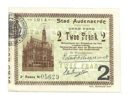 Noodgeld - Argent De Nécessité - Audenaerde - 1914 - [ 3] Occupations Allemandes De La Belgique