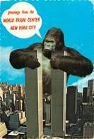 Etats-Unis - New York City - Greetings From The World Trade Center - King Kong - Semi Moderne Grand Format - état - World Trade Center
