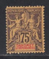 Dahomey 1901 Yvert 14 * TB Charniere(s) - Unused Stamps