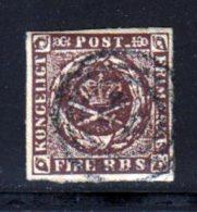 Danemark 1851 Yvert 2 (o) B Oblitere(s) - 1851-63 (Frederik VII)