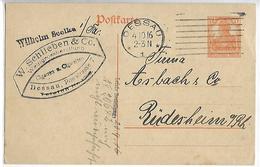 Entier Postale Allemand 1916 7 1/2 Orange  Tad DESSAU Publicité W.SCHILIEBEN - Zona Belga