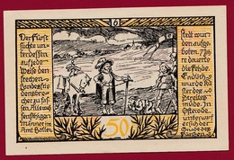 Allemagne 1 Notgeld  50 Pfenning  Stadt Rieder (RARE) Dans L 'état N °4579 - Verzamelingen