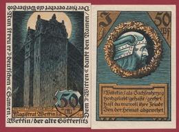 Allemagne 1 Notgeld  50  Pfenning  Stadt Wettin  (RARE) Dans L 'état N °4584 - [ 3] 1918-1933 : República De Weimar