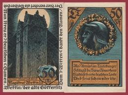 Allemagne 1 Notgeld  50  Pfenning  Stadt Wettin  (RARE) Dans L 'état N °4587 - Collections