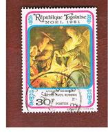 TOGO  - SG 1564  -   1981 CHRISTMAS: RUBENS (SHEPERDS ADORATION)  - USED ° - Togo (1960-...)