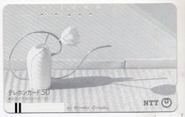 JAPON TELECARTE ANCIENNE NTT FRONTBAR BARCODE 310-016 PEINTURE MINEKO ORIZAKU - Peinture