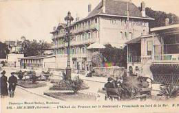 Gironde        986        Arcachon.L'Hôtel De France Sur Le Boulevard Promenade Au Bord De La Mer - Arcachon