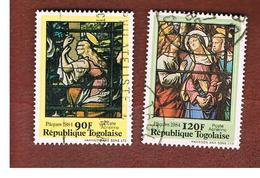 TOGO  - SG 1666.1667  -   1984  EASTER     - USED ° - Togo (1960-...)