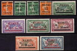 Memel (Klaipeda) 1922 Mi 52; 54-55; 58; 63; 65-66; 69-71 * [260819VII] - Memelgebiet