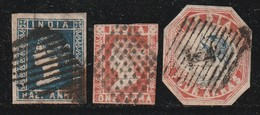 INDE ANGLAISE - N°2A + 3 + 5 Obl (1854) Victoria - India (...-1947)