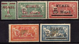 Memel (Klaipeda) 1922 Mi 111; 113-114; 117-118 * [260819VII] - Memelgebiet