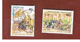 TOGO  - SG 2054.2056  -   1989 FRENCH REVOLUTION BICENTENARY   - USED ° - Togo (1960-...)