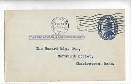 Lettre Avec Entier Postal 1c Blue McKinley Postal Card 1910 - Amérique Centrale