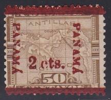 Panama, Scott #182b, Mint Hinged, Map Surcharged, Issued 1906 - Panama