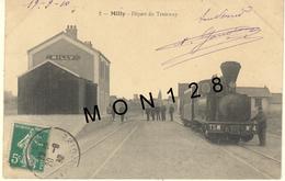 MILLY (91)  DEPART DU TRAMWAY (TRAIN) - Milly La Foret