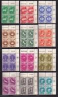 ISRAEL, 1961, Cylinder Blocks Without Tabs Of Mint Stamps, Zodiac Stamps, SG198-210, X1025 - Blokken & Velletjes