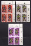 ISRAEL, 1961, Cylinder Blocks Without Tabs Of Mint Stamps, New Year - Heroes, SG216-218, X1026 - Blokken & Velletjes