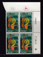 ISRAEL, 1961, Cylinder Blocks Without Tabs Of Mint Stamps, Orchestras, SG222, X1027 - Blokken & Velletjes