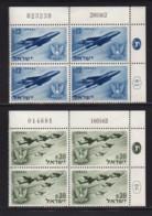 ISRAEL, 1962, Cylinder Blocks Without Tabs Of Mint Stamps, Independence Airplanes, SG229-230,X1028 - Blokken & Velletjes