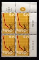 ISRAEL, 1962, Cylinder Blocks Without Tabs Of Mint Stamps, Anti Malaria, SG231,X1027 - Blokken & Velletjes