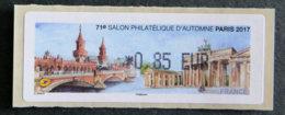 FRANCE - VIGNETTES ILLUSTREES - 2017 - VIG 256 - 71è SALON PHILATELIQUE D AUTOMNE - 1999-2009 Illustrated Franking Labels