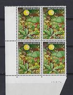 Belgique: 1741 **  Bloc De 4  (Porcelle -  Plante Toxique Pour Chevaux) - Toxic Plants