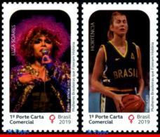 Ref. BR-V2019-WOME BRAZIL 2019 - WOMEN WHO MADE HISTORY,, ELZA SOARES, HORT�NCIA, MNH, FAMOUS PEOPLE 1V - Femmes Célèbres