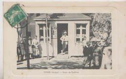 CPA USSON ( ARIEGE )  SALON DE COIFFURE - Autres Communes