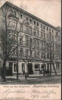 ! Alte Ansichtskarte  Magdeburg Sudenburg, Gruss Aus Dem Bürgerhaus, 1911 - Magdeburg