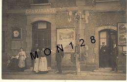 CHAMARANDE (91) PHOTO CARTE GARE - ENTREE 3ème CLASSE-CHEF DE STATION - France