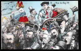 Illustrateur Politique Satirique Mille,  Visite Du Roi D'Espagne En France, N°2, Vivi Le Roy !!! - Mille