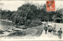 CPA - PARIS - BOIS DE BOULOGNE - LE TOUR DU LAC - Parks, Gardens