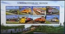 Guinee 1998**Mi.2179-86. Locomotives Of The World , MNH [5;44] - Eisenbahnen