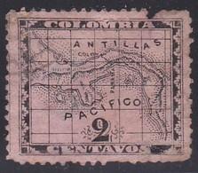 Panama, Scott #9, Used, Map, Issued 1887 - Panama