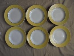 Ancien - 6 Assiettes Creuses - Céramiques