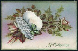14308 FRANCE CPA  Sainte-Catherine :  Bonnet , Bouquet De Roses Et Feuillage    B/TB - Sainte-Catherine