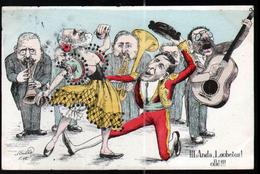 Illustrateur Politique Satirique Mille, Visite Du Roi D'Espagne En France, N°3, Anda Loubeios ! - Mille