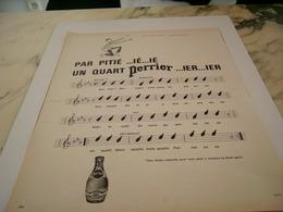 ANCIENNE PUBLICITE QUART PERRIER 1964 - Affiches