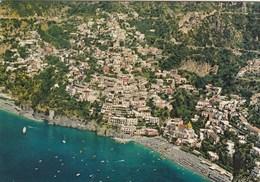 POSITANO-SALERNO-VEDUTA AEREA- CARTOLINA VERA FOTOGRAFIA  VIAGGIATA IL 11-9-1985 - Salerno