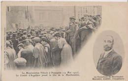 CPA PERPIGNAN  MANIFESTATION VITICOLE A PERPIGNAN  MAI 1907 - Perpignan