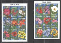 X1164 GAMBIA PLANTS FLOWERS OF AFRICA 2SH MNH - Végétaux