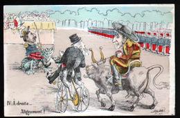 Illustrateur Politique Satirique Mille, Visite Du Roi D'Espagne En France, N°4, A Droite... Alignement ! - Mille
